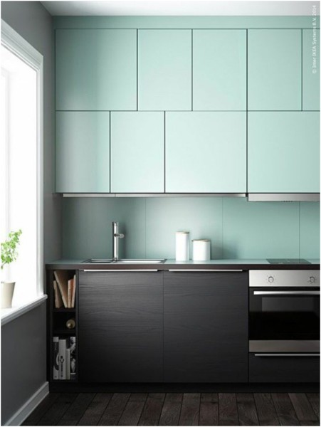 Monochrome Kitchen Design in Two Modern Colors