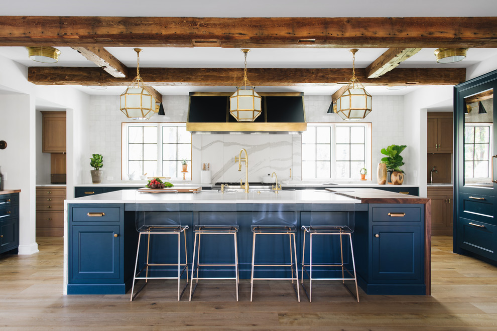 Transitional U-shaped Kitchen