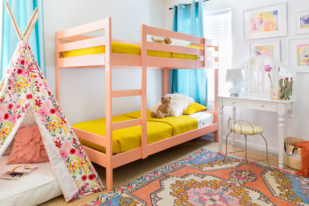 Eclectic Kids Bedroom With Bunk Beds Dwellingdecor