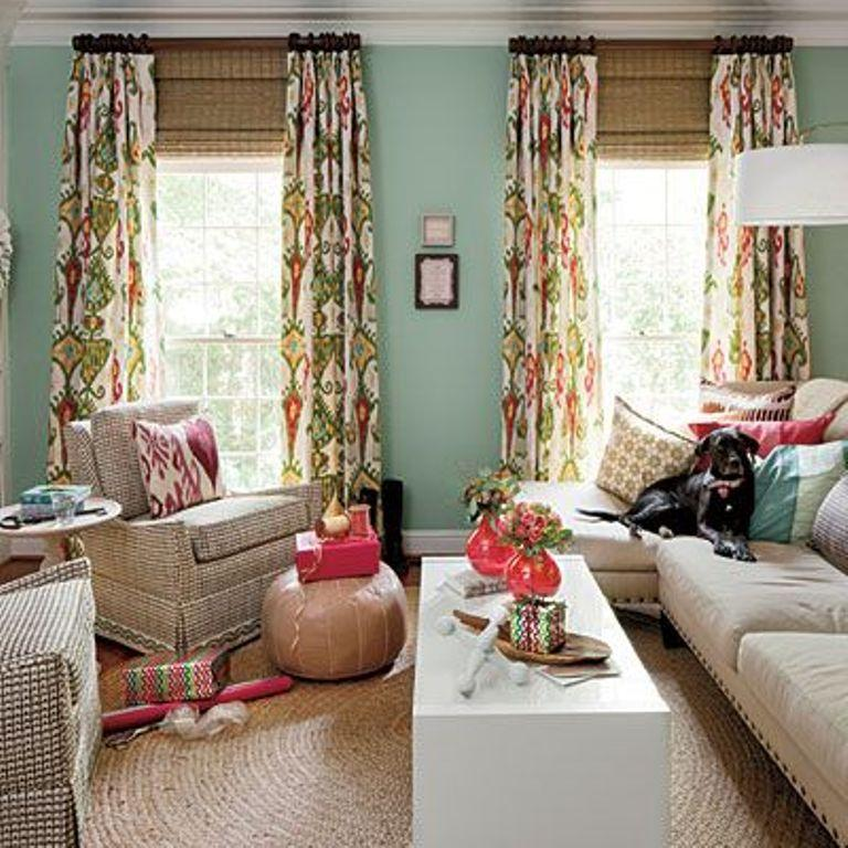 Printed Curtain Living Room dwellingdecor