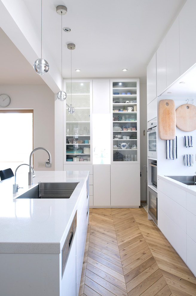 Scandinavian Kitchen with an Island Dwellingdecor