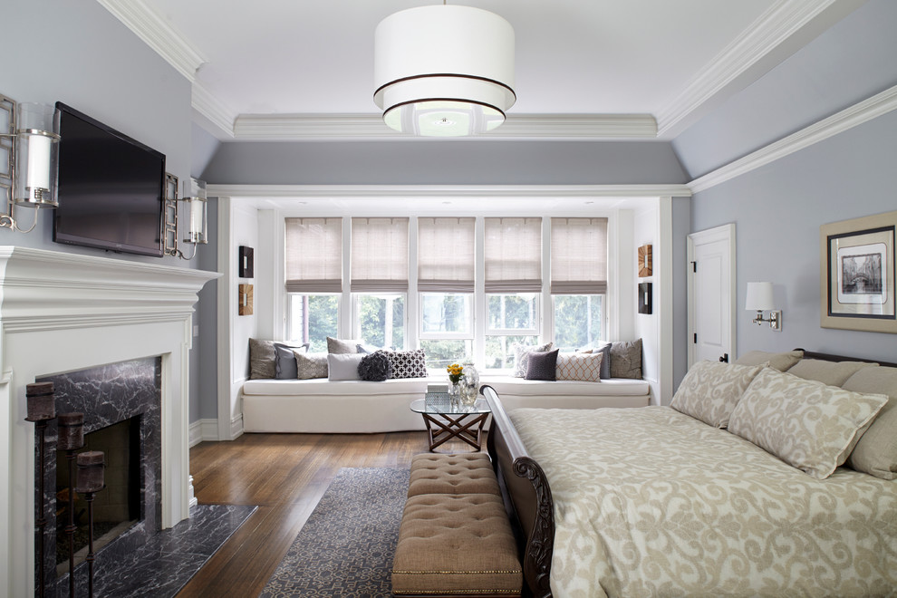 Classic Master Bedroom Built In Window Seats Dwellingdecor