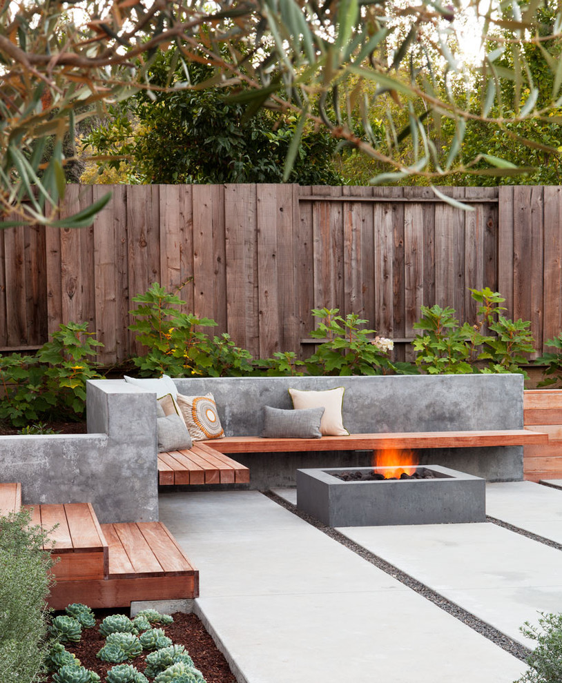 Contemporary Patio With Outdoor Cooking & Dining Dwellingdecor