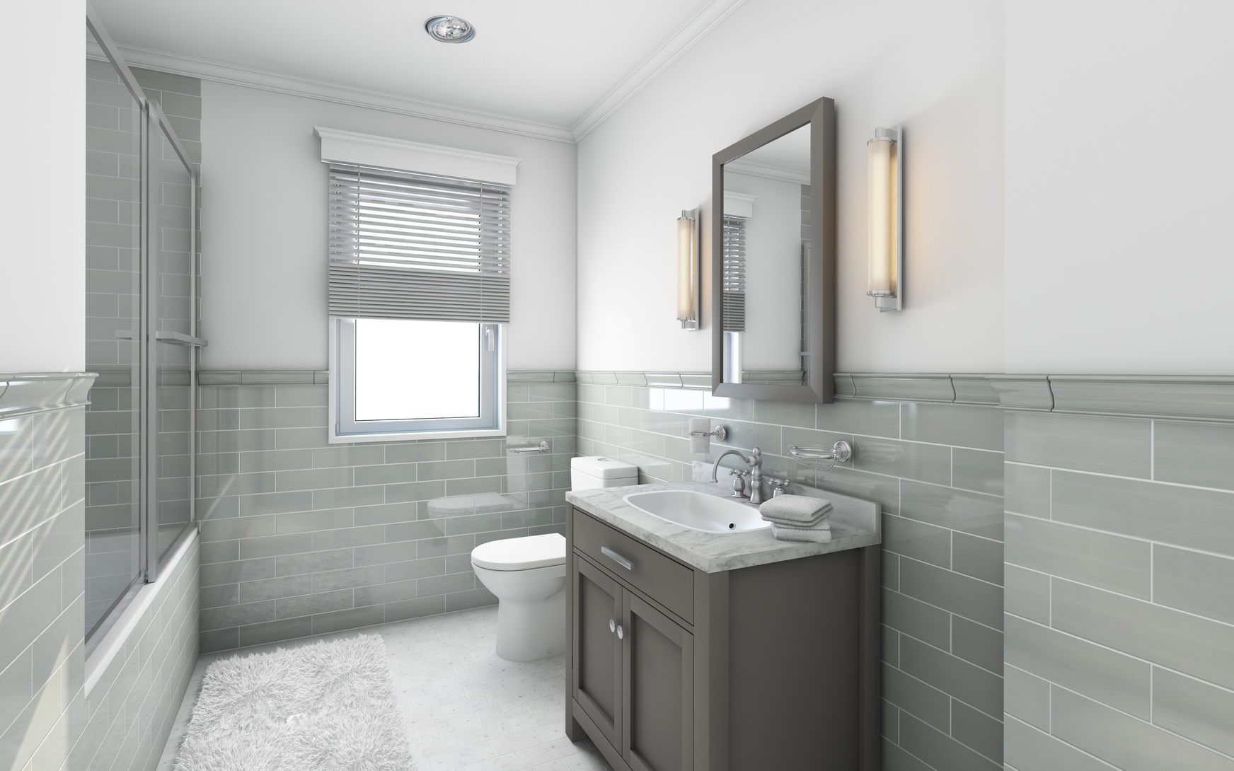 Modern Bathroom in Country House