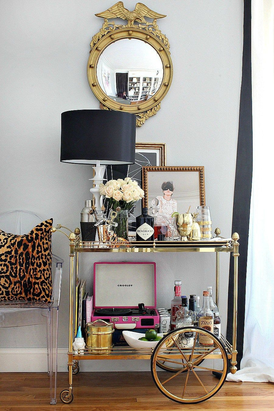 Bar Cart Styling Ideas and Tips Design of bart cart