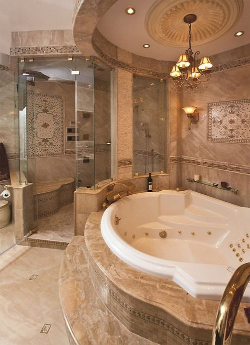 Luxury Master Bathroom With shower for shaving and jet in the tub