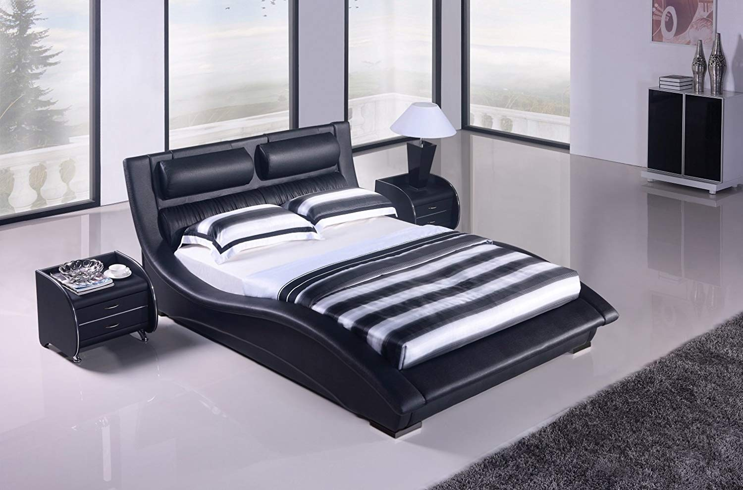 Contemporary Platform Bed (1)