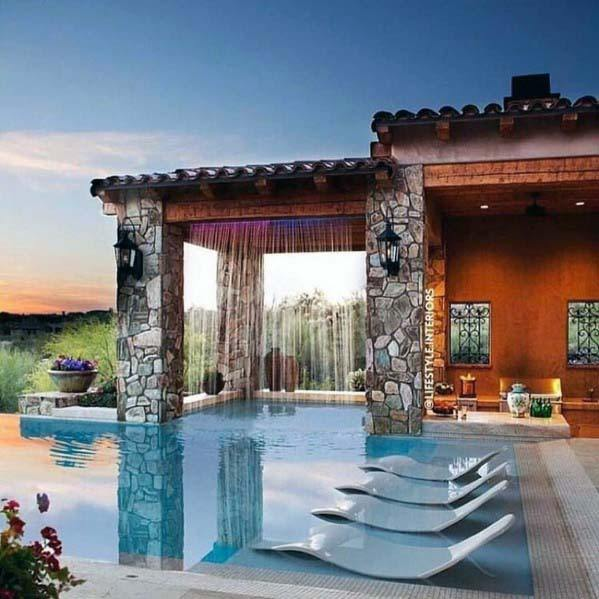 Pool Waterfall Ideas (30)