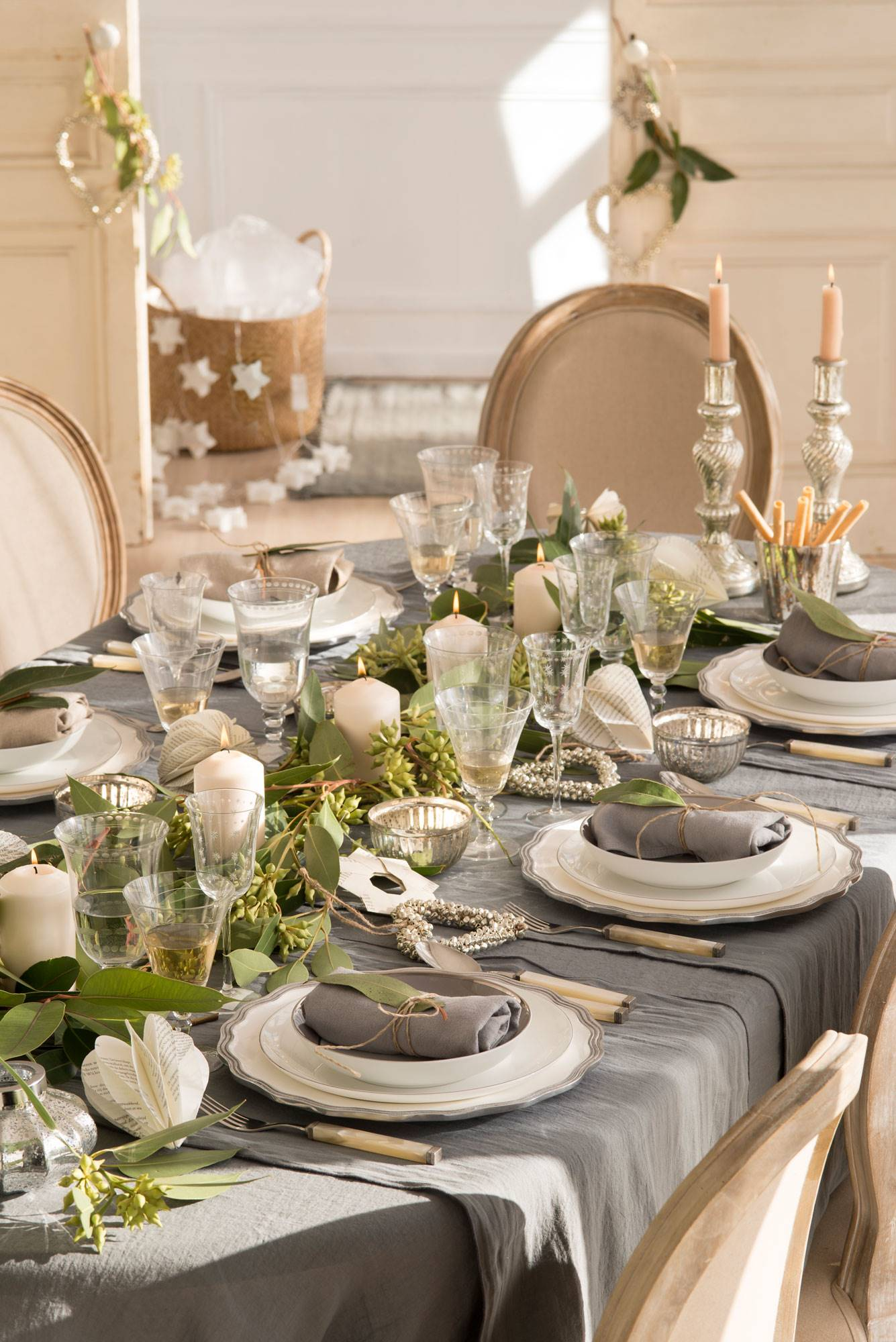 A GARLAND OF GREENS AND CANDLES