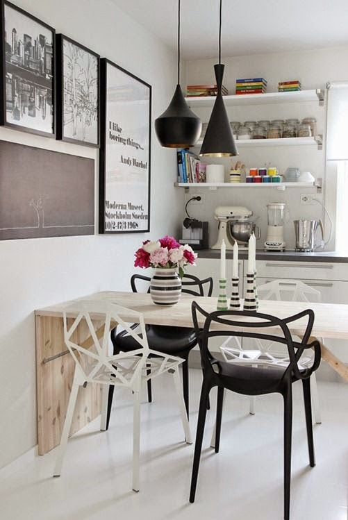 The layout of a small kitchen