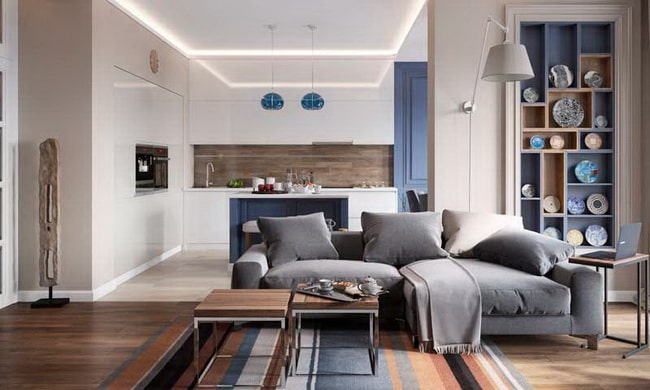 Open and integrated kitchens in the living area1