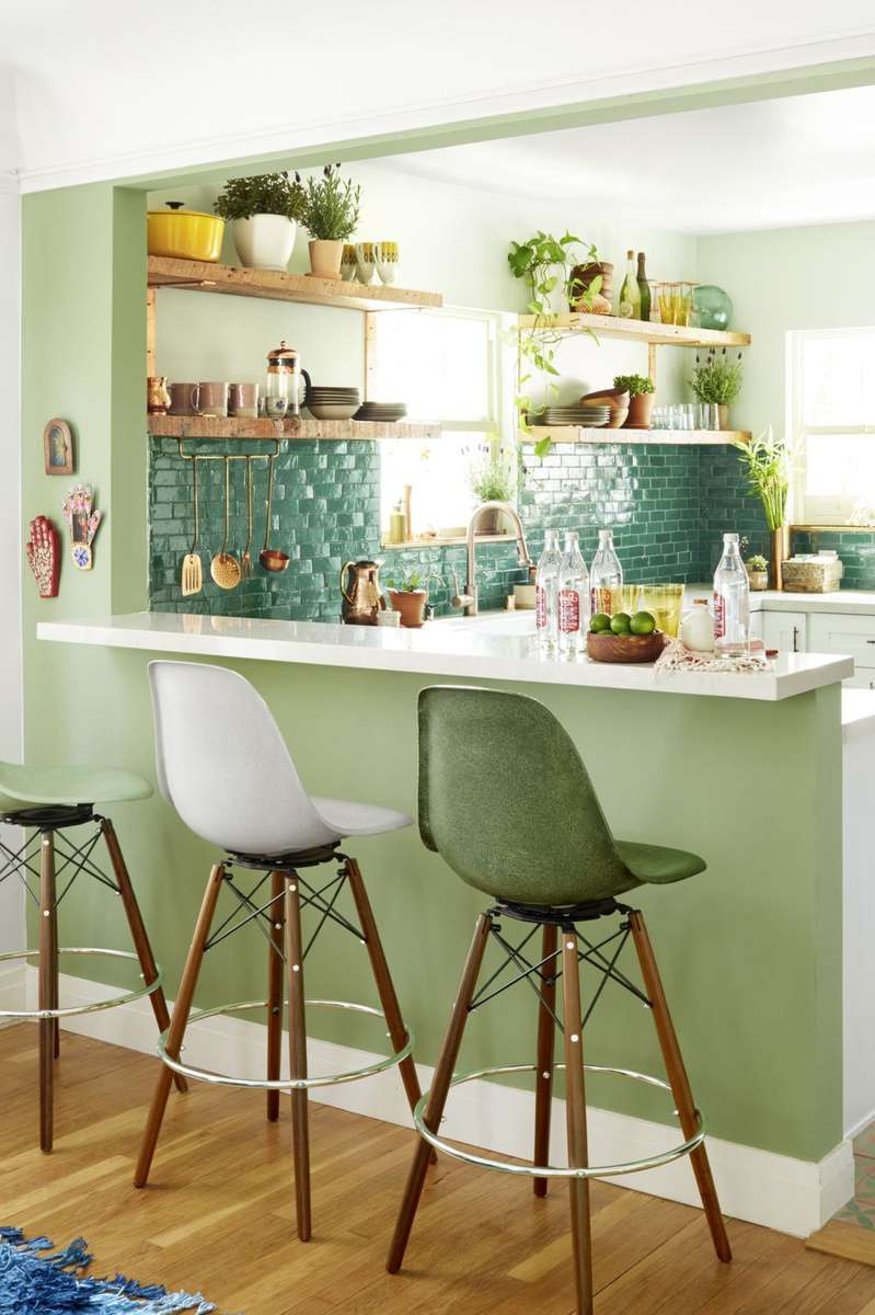 Play with various shades of green