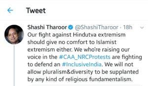Shashi Throor tweet