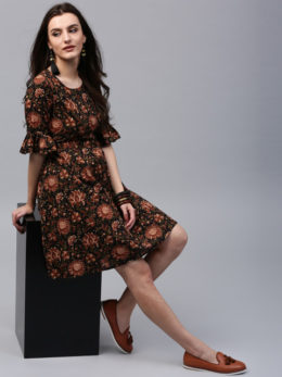 Flare printed Dress