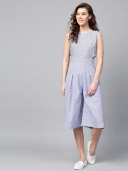 Striped Culotte Jumpsuit