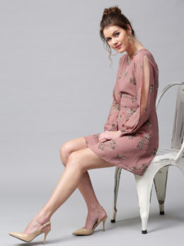 Flare Dress pink