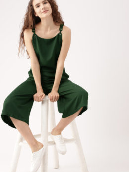Culotte Jumpsuit Solid Green