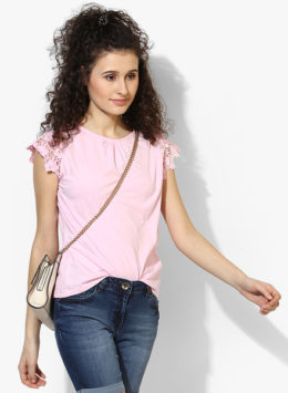 Pink Self Pattern Top