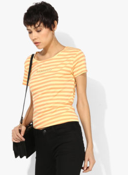 Yellow Striped T Shirt