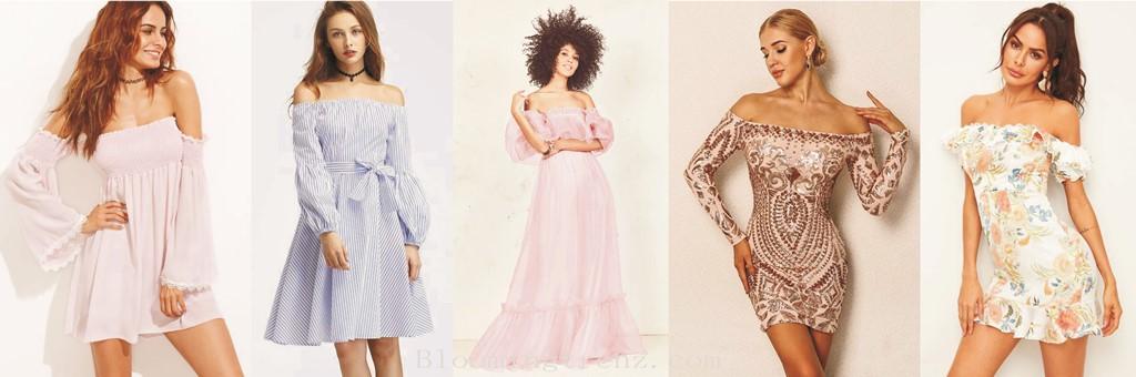 Off Shoulder Dresses for women