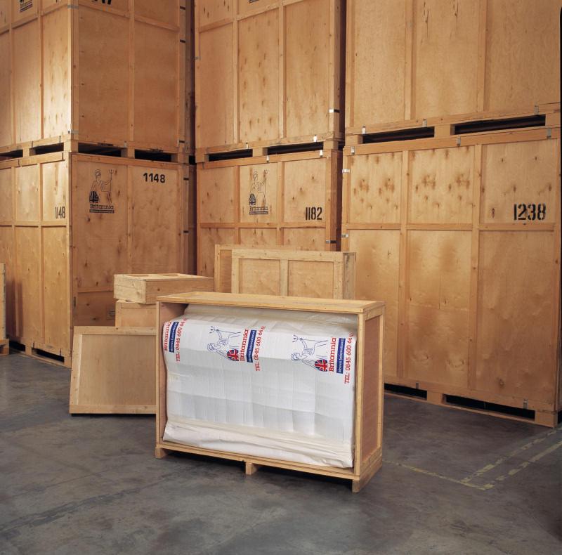 Caja de madera - embalaje de un piano