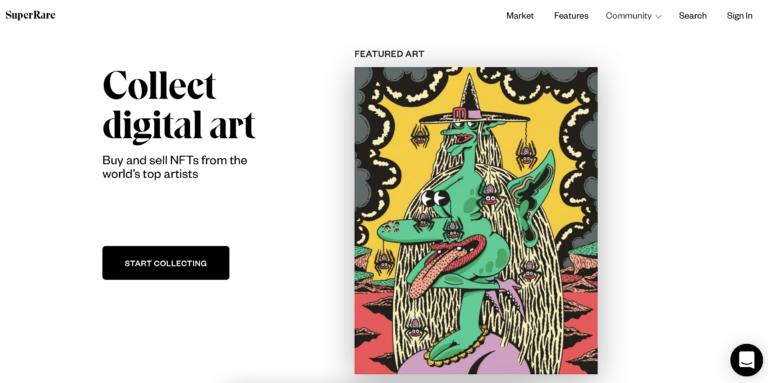 SuperRare; Authentic Digital Art Marketplace
