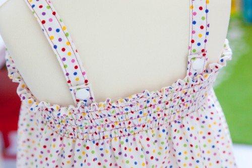 Bild des fertiggenähten Kleides mit der Nähanleitung von Pattydoo
