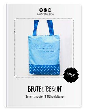"""Coverbild für den Stoffbeutel """"Beutel """"Berlin"""""""" mit Schnittmuster und Nähanleitung von Kreativlabor Berlin."""