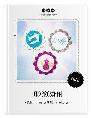 Beitragsbild des Schnittmusters Filzbroschen von Kreativlabor Berlin.