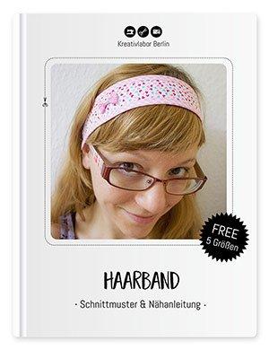 Schnittmuster & Nähanleitung für ein sommerliches Haarband in 5 Größen - Beitragsbild