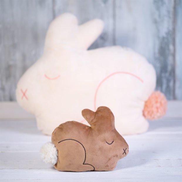Kissen für Ostern nähen - Kissen Hase