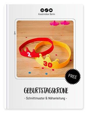 """Beitragsbild für das Schnittmuster """"Geburtstagskrone aus Filz"""" von Kreativlabor Berlin."""