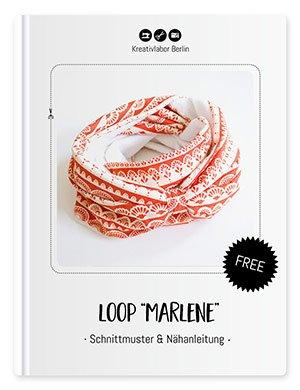 """Beitragsbild für die kostenlose Nähanleitung für den Loop """"Marlene"""" von Kreativlabor Berlin."""