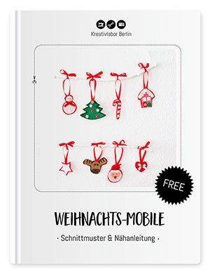 Schnittmuster für ein Weihnachts-Mobile von Kreativlabor Berlin
