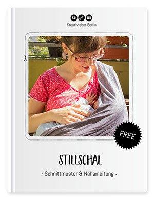 """Coverbild für das Freebook """"Stillschal - Schnittmuster & Nähanleitung"""" von Kreativlabor Berlin - 100% kostenlose Schnittmuster"""