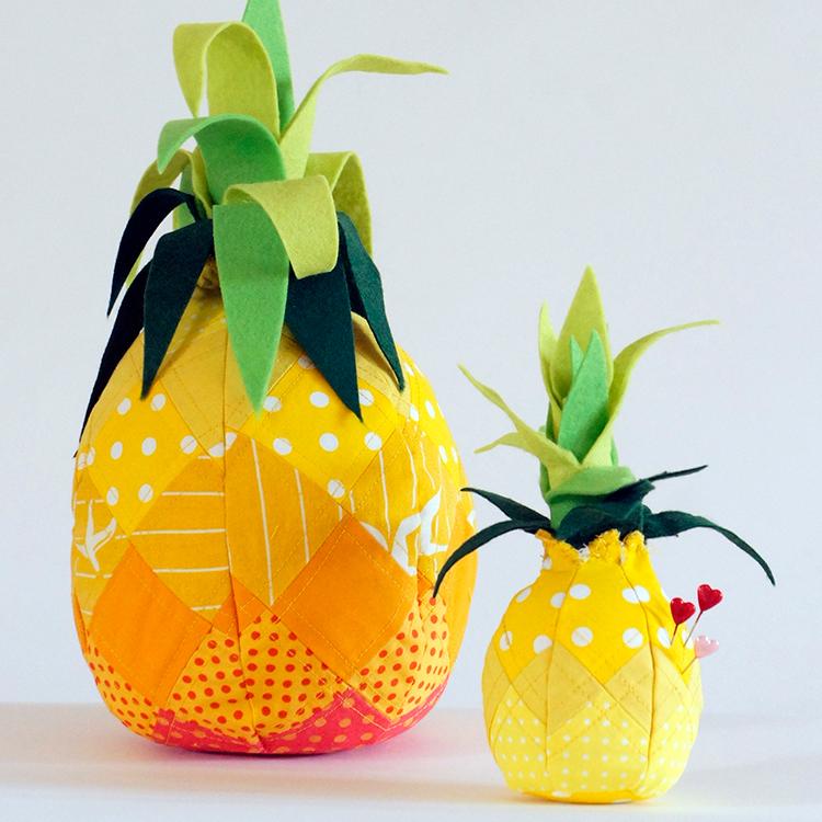 Das Schnittmuster für das Nadelkissen Ananas ist von Frau Scheiner.