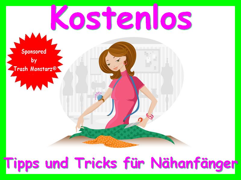 """Kostenloses E-Book """"Tipps und Tricks für Nähanfänger"""" von Trash Monstarz"""