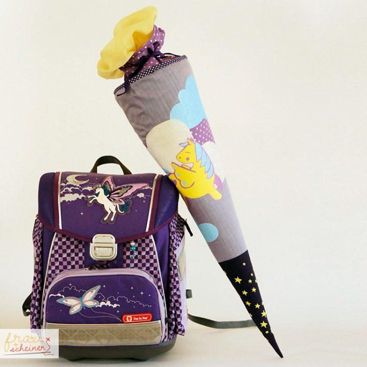 Kostenloses Schnittmuster für die Schultüte Lovis von Frau Scheiner - Mit passendem Schulrucksack.