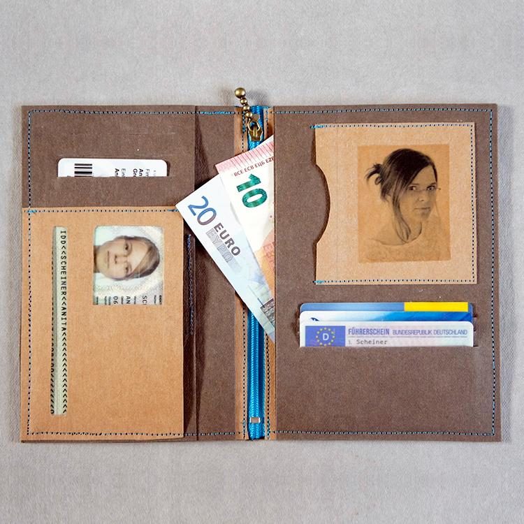 Das kostenlose Schnittmuster der Herrentasche von Frau Scheiner - Fertiggenäht mit Fotos ein sehr persönliches Geschenk!
