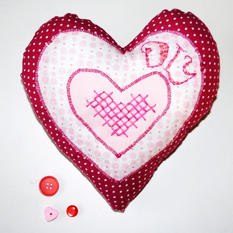 Herz nähen mit Nähanleitung und Schnittmuster