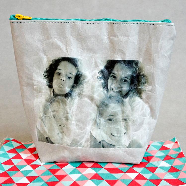 Kostenloses Schnittmuster der Kosmetiktasche aus SnapPap von Frau Scheiner - Mit tollen Fotoaufdruck!