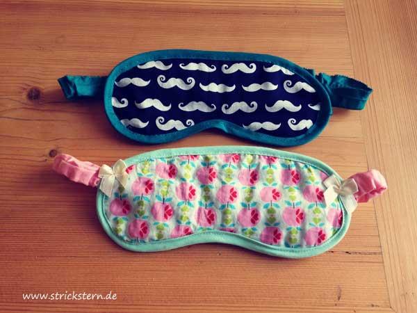 Gratis Schnittmuster Schlafmaske von Stickstern - Schlafmaske für Mann & Frau