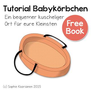 """Coverbild des Freebooks """"Tutorial für ein Babykörbchen"""""""