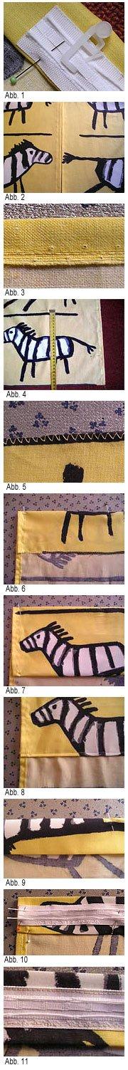 Nähanleitung für einen Vorhang