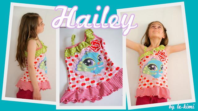 Das Sommer Top Hailey für Mädchen von Le-Kimi - Ein kreatives Schnittmuster für individuellen Style von Mädchen.