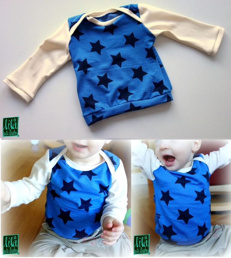 """Das Schnittmuster für das Baby-Shirt """"Morgenstern"""" von Lila wie Liebe - Mit Sternenstoff ein noch passenderer Name!"""