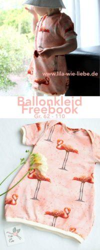 Kostenloses Schnittmuster Ballonkleid von Lila wie Liebe für Babys und kleine Mädchen