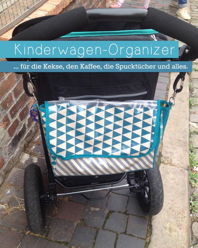 Mit Nähanleitung Kinderwagen-Organiser von Lybstes nähen