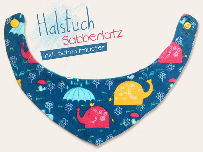 Schnittmuster für Babyhalstuch - Titelbild für das kostenlose Schnittmuster mit Nähanleitung von Lybstes.