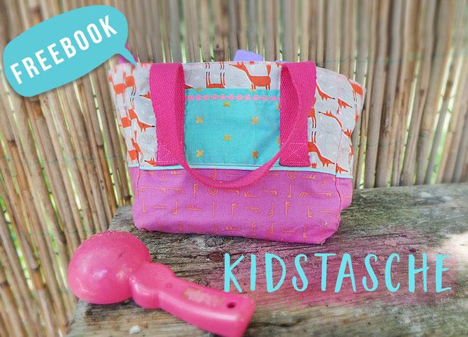 Kostenloses Schnittmuster Kindergartentasche von Lybstes